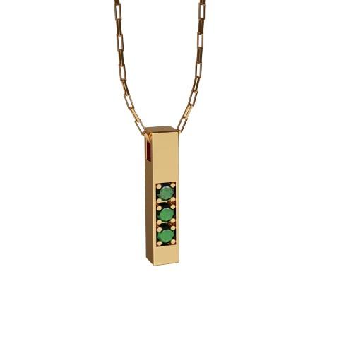 Amuleto Pingente Ouro Amarelo 18K Esmeralda Felipe Aloisi Joalheiro Laroc