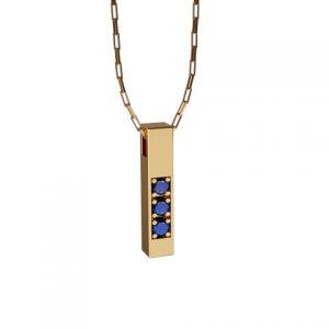 Amuleto Pingente Ouro Amarelo 18K com pedras de Safira Azul Felipe Aloisi Joalheria Laroc