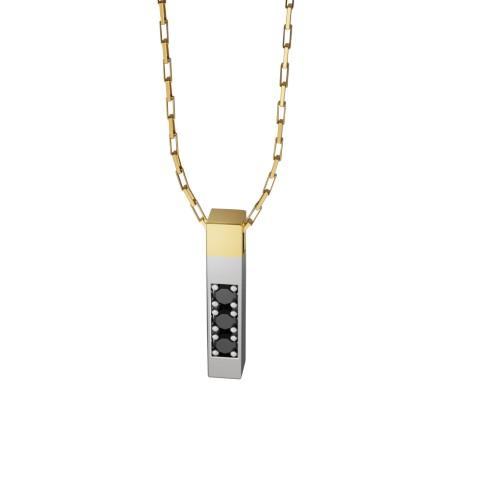 amuleto pingente dj laroc felipe aloisi joalheria ouro safira esmeralda diamante negro ouro branco
