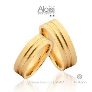 Alianças Casamento Ouro Amarelo 18k - Potenza - Di Filippo