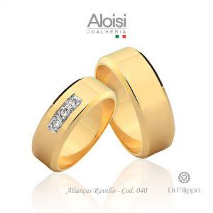 Alianças Casamento Ouro Amarelo 18k - Ravello - Di Filippo