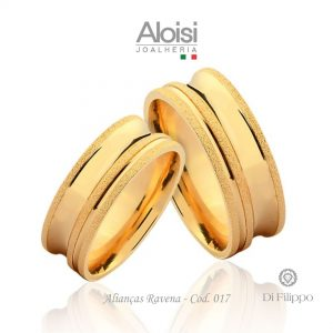 Alianças Casamento Ouro Amarelo 18k - Ravena - Di Filippo