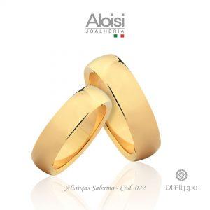 Alianças Casamento Ouro Amarelo 18k - Salerno - Di Filippo