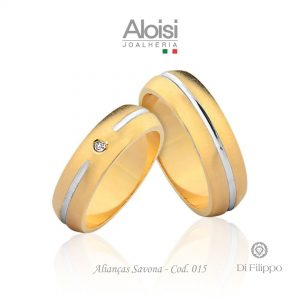 Alianças Casamento Ouro Amarelo 18k - Savona - Di Filippo