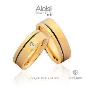 Alianças Casamento Ouro Amarelo 18k - Siena - Di Filippo