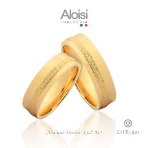 Alianças Casamento Ouro Amarelo 18k - Treviso -Di Filippo