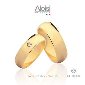 Alianças Casamento Ouro Amarelo 18k - Udine -Di Filippo