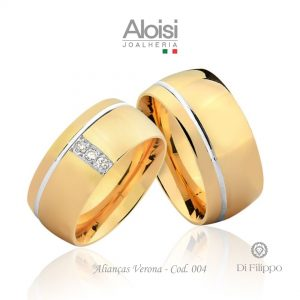 Alianças Casamento Ouro Amarelo 18k - Verona -Di Filippo