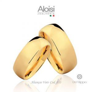 Alianças Casamento Ouro Amarelo 18k - Voti -Di Filippo